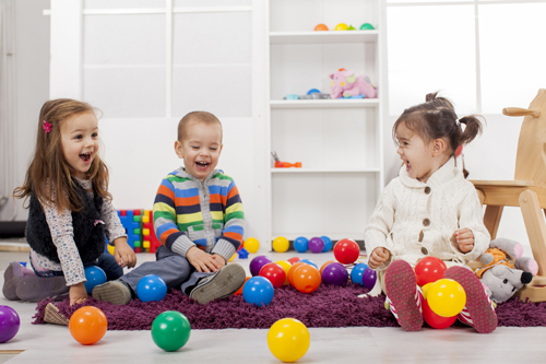 Children Playing In The Room
